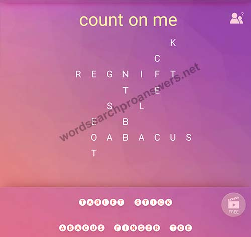 count on me word search